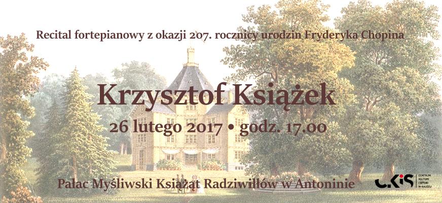 Krzysztof Książek – recital fortepianowy