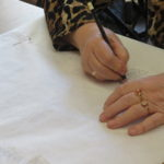 warsztaty czepcowe - rysowanie wzorów