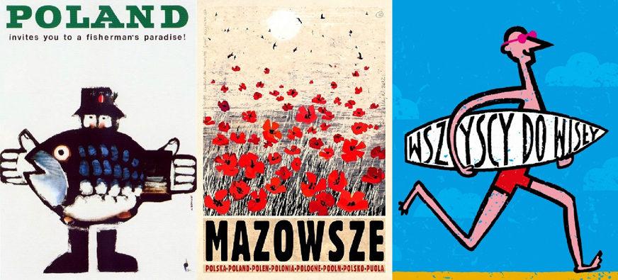 """Galeria w Hallu. """"Z plakatem po Polsce"""" – wystawa plakatów turystycznych."""