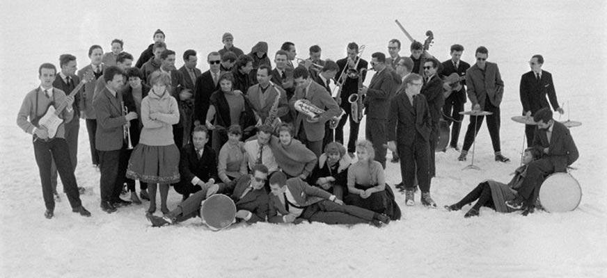 """Galeria w Hallu. Wojciech Plewiński """"Jazz Camping Kalatówki '59"""". Wystawa towarzysząca 46. MFPJ."""