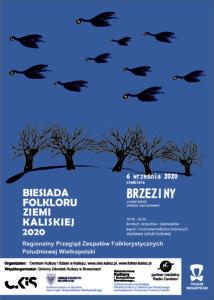 Plakat Biesiady Folkloru 2020 autorstwa Krzysztofa Rospondka z Kapeli z Kociny