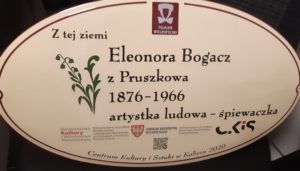 Eleonora Bogaczowa z Pruszkowa - tablica