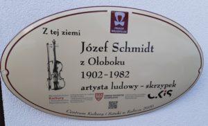 Józef Schmidt z Ołoboku - tablica pamiątkowa