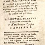 """""""Lekarz dla włościan"""" - książka ks. Ludwika Perzyny wydana w Kaliszu w 1793 r."""