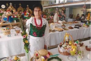 Marianna Filipiak z nagrodzoną palmą, fot. J.Majorowicz