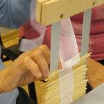 układanie ryszki - elementu łączącego czepiec