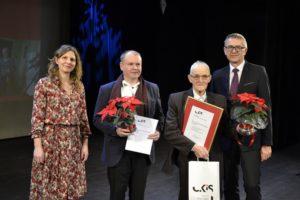 L.Lewandowski i K.Rospondek z W.Mazurkiewiczem i A.Gałczyńską