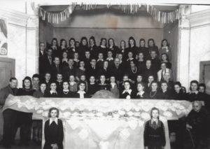 Kurs hafciarski w Golinie 1949, S.Kowalska w środku, fot. arch. Twórczyni