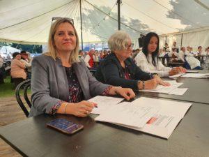 Jury konkursu: od lewej Agata Nowakowska-Dybka, dr Arleta Nawrocka-Wysocka, Anna Kowalkiewicz-Oligny